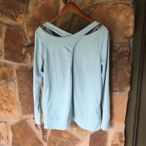 Cross-cross backed lightweight sweatshirt